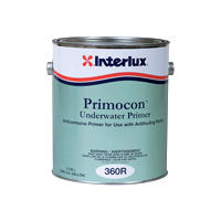 Interlux Primocon Metal Primer for priming metal and creating a barrier coat below the waterline