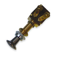 Brass Push Pull Switch Off-On - SPST