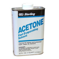 Acetone, acetone is a great solvent for fiberglass and epoxy repair projects.