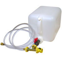 Boat engine flusher and winterizing kit