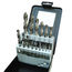 15 Piece Drill Sets - Regular & Split Point, high speed steel drill bits, split point drill bits, 135 degree split point drills, 118 degree high speed steel drills