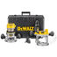 Dewalt DW618PK 2-1/4 HP Electronic Variable Speed Fixed Base / Plunge Router
