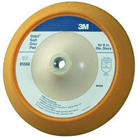 3M 05568 Stikit 8 Inch No-Hole Soft Backup Pad
