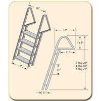 Galvanized dock ladder steps