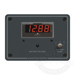 Blue Sea Systems 3 Bank DC Digital Voltmeter Panel