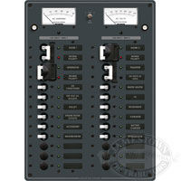 Blue Sea Systems AC 2 Sources Toggle Circuit Breaker Panel