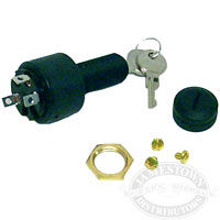 3 Position Conventional Off-Run-Start Ignition Switch