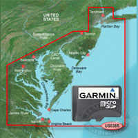 Garmin BlueChart G2 Vision MicroSD Cards for the United States