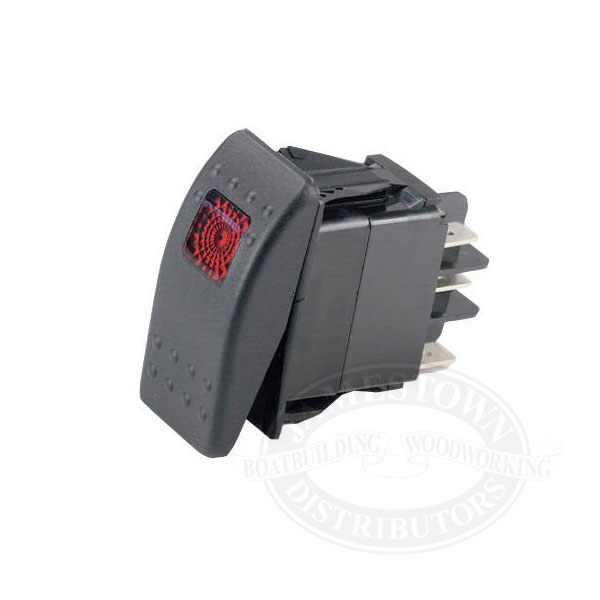 Ancor Sealed Rocker Switch – Lighted Momentary Switch Wiring Diagram