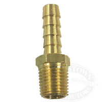 Brass Pipe to Hose Adapter - 5/16 Barb, 1/4 NPT Male