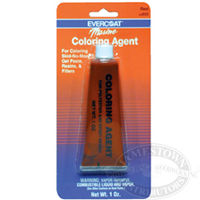Evercoat Coloring Agents are available in red, white, blue, yellow, brown, blue, and black