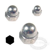 Chrome Stainless Steel Acorn Nuts