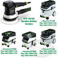 Festool ETS 150 EQ Random Orbital Sander. 150/3, 150/5 sanders