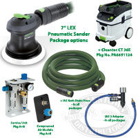 Festool 7 inch Pneumatic Random Orbit Sander and Packages