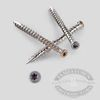 Composite Painted Trim Head Screws - Gray