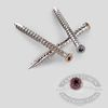 Painted Composite Trim Head Screws - Redwood