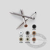 Composite Painted Trim Head Screws - Tan