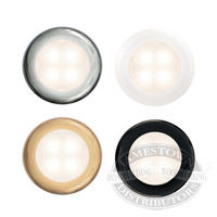 Hella Warm White Slim Line Round LED Courtesy Lamps