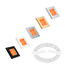 Hella Orange Slim Line Square LED Courtesy Lamps