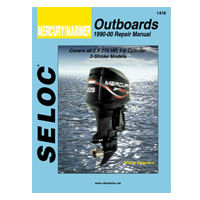 Seloc Marine engine repair manuals for all Mercury outboard engines both 2 and 4 stroke