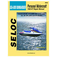 Sea Doo Bombardier Repair Manuals for all Seadoo 1988 - 1997 personal watercraft or pwcs