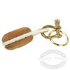 Teak Block Key Chain