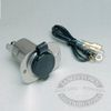 12V Stainless Steel Receptacle with Cap