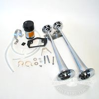 Chrome Dual Trumpet Air Horns