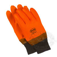 Boss Fluorescent Orange Foam Lined PVC Gloves are also known as lobster gloves