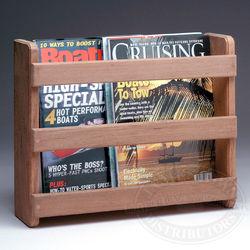 Teak Magazine Rack