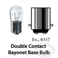 Perko Double Contact Bayonet Base L:ight Bulb for marine navigation lights