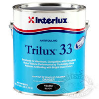 interlux trilux 33 bottom paint, aluminum antifouling paint