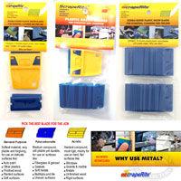 ScrapeRite Polycarbonate Plastic Razor Blades