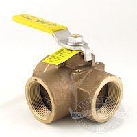 Conbraco Bronze Three-Way Diverter Valve