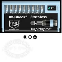 Wera BC 11/9 Stainless Bit Check Set