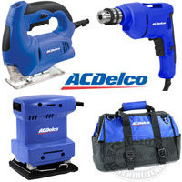 AC Delco 3-Piece Power Tool Kit with Bag