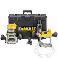 Dewalt DW616PK 1-3/4 HP Fixed Base / Plunge Router Combo