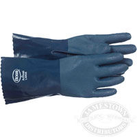 Boss Cotton Lined 14 inch Nitrile Gloves