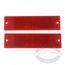 Rectangular Reflectors--Red