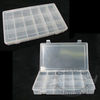 Clear Plastic Fastener Storage Bin