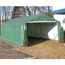 Shelter King All Weather Extended Shelter 12W X 24L X 8H House Style, Gray
