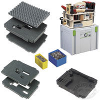 Festool Systainer Organizers, Foam Inserts and Accessories