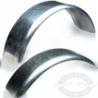 Galvanized boat trailer fenders