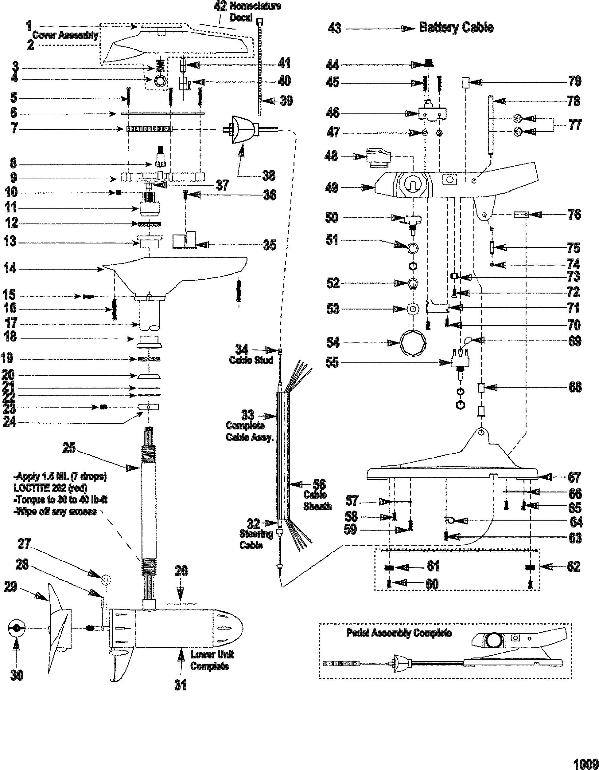 Motorguide W75 Parts Diagram