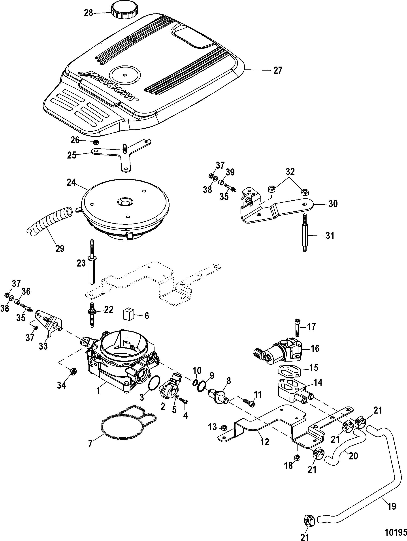 throttle body mechanical for mercruiser 5 0l 350 mag mx 6