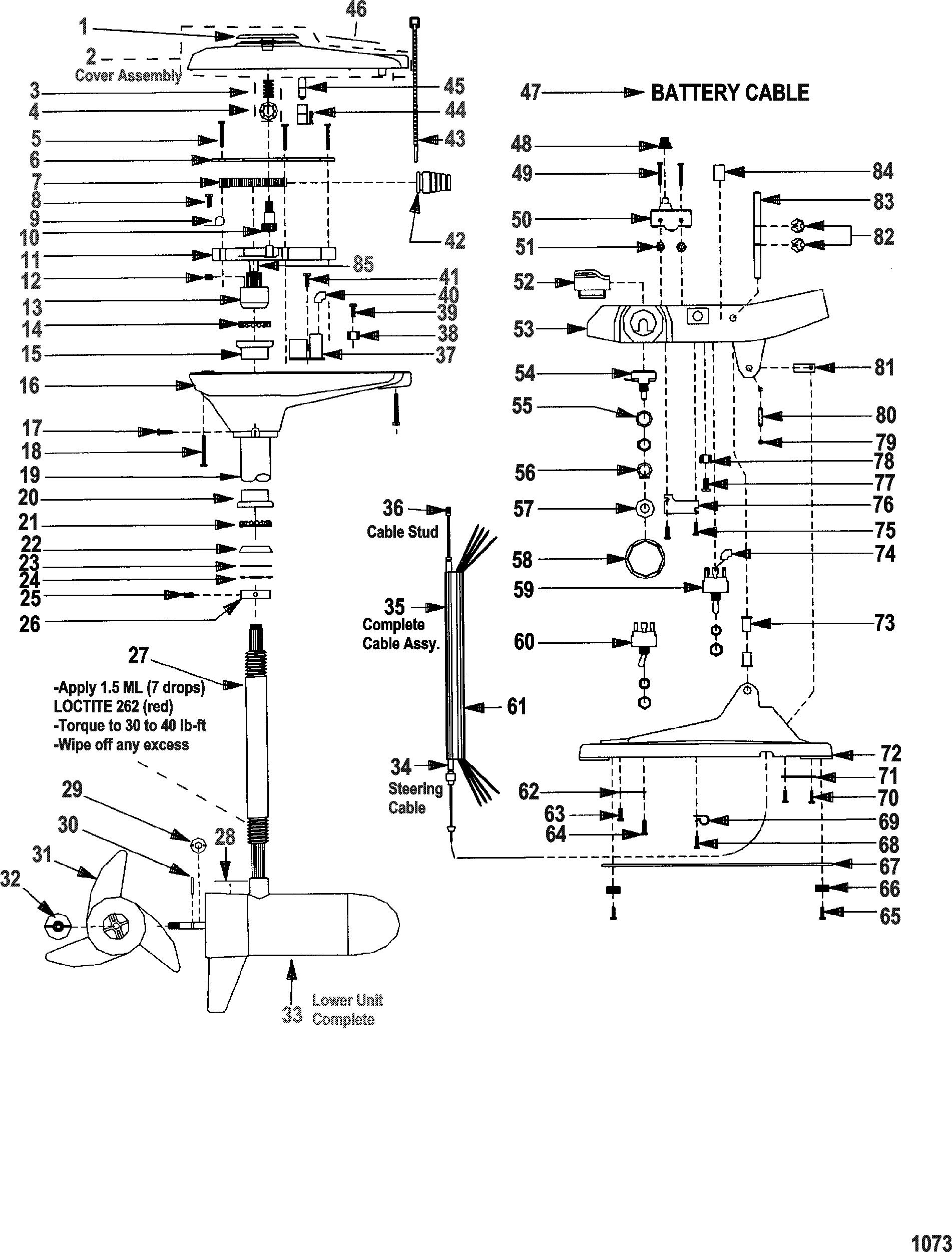 Complete trolling motor model gwf67v 24 volt for for Minn kota great white trolling motor