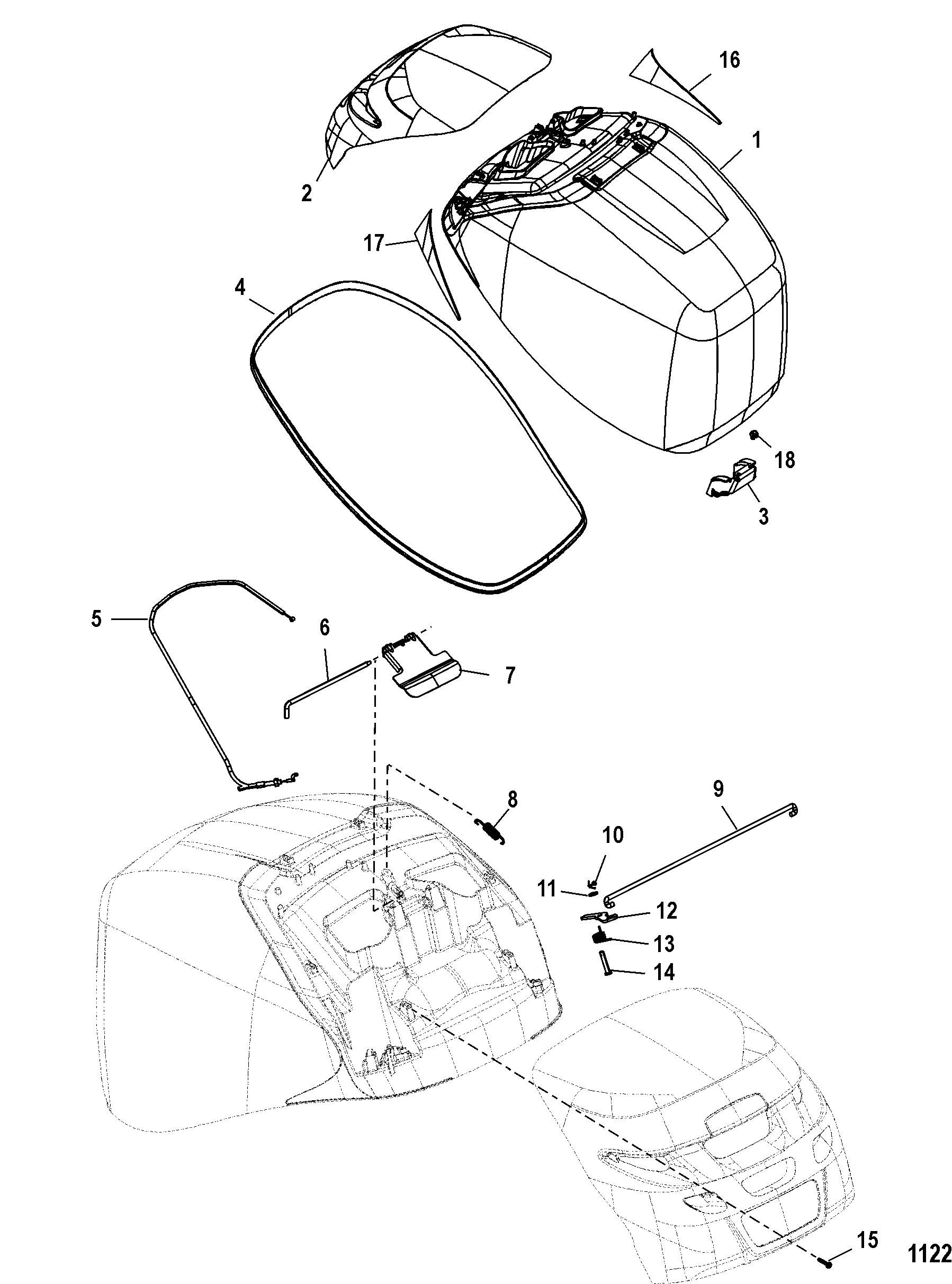Mercury Verado 225 Wiring Diagram Manual Guide Smartcraft Top Cowl For Mariner 200 250 275 4 Stroke Harness