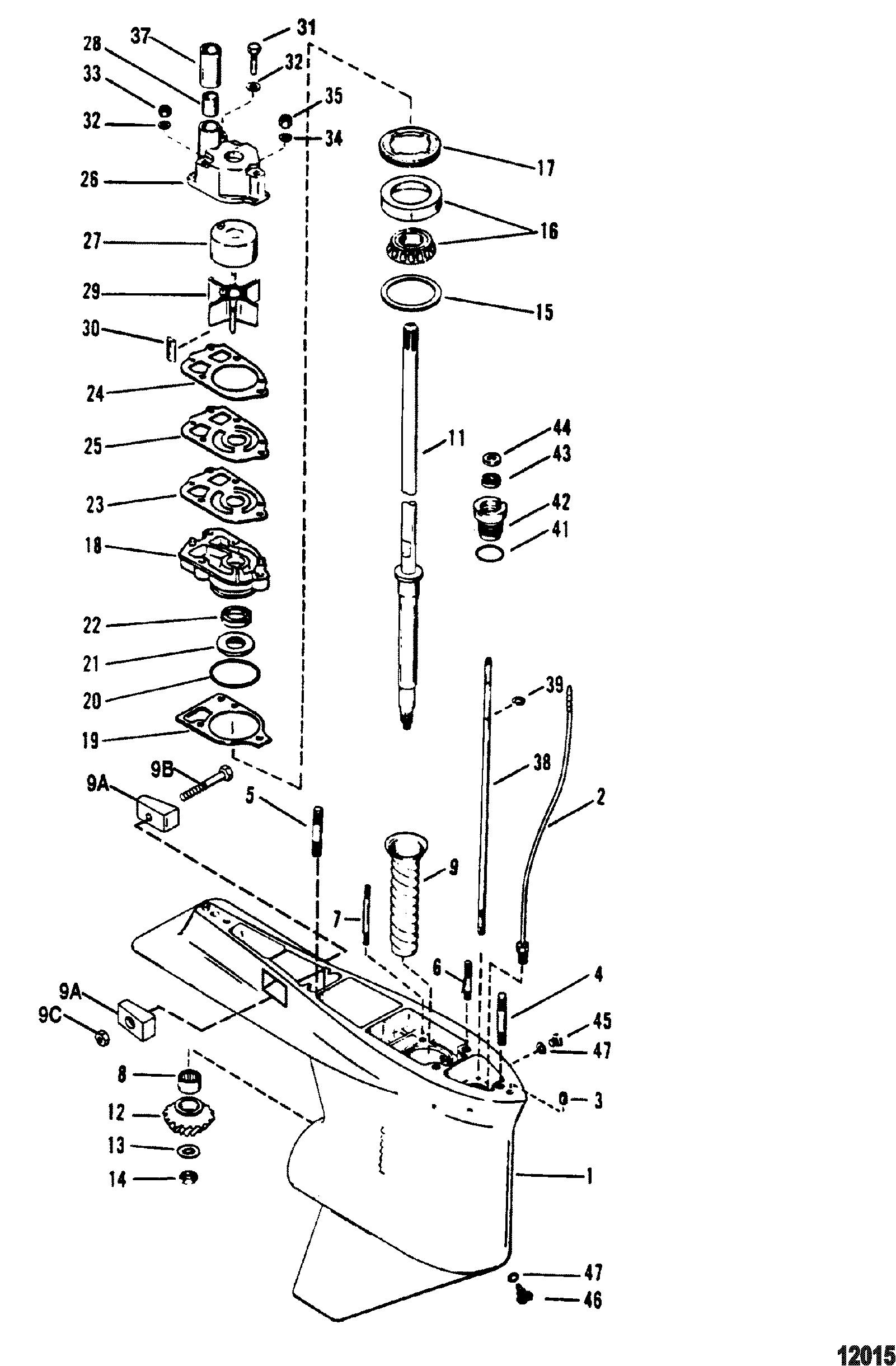 Gear Housing Drive Shaft 1 87 1 Gear Ratio 4 75 Torpedo