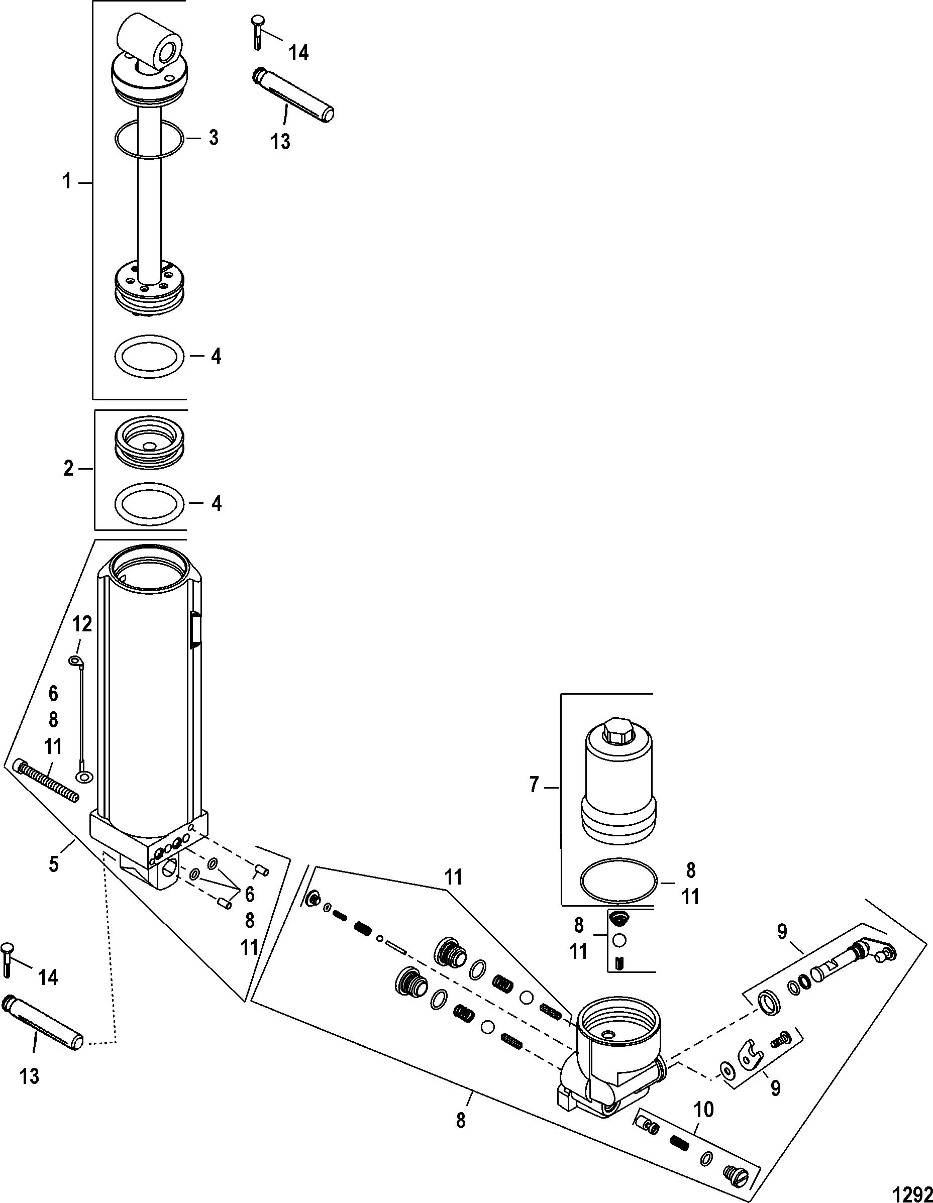Manual Tilt FOR MARINER / MERCURY 30/40 EFI (3 CYL) 4-STROKE