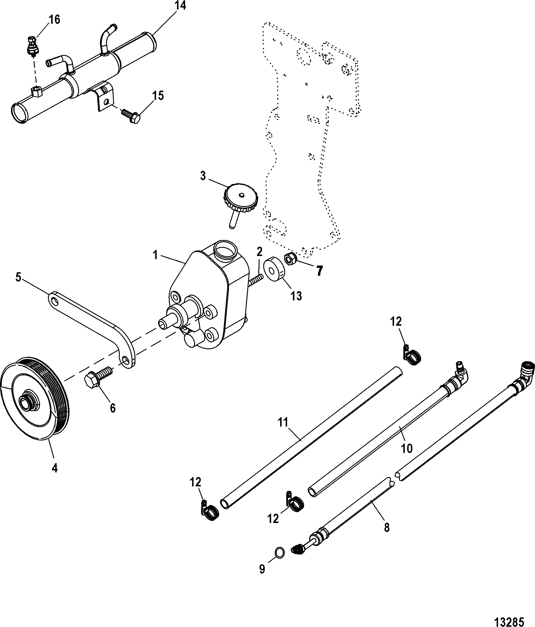 RepairGuideContent furthermore Front Axle together with 1328442 1985 F150 Horn Relay further 12 BASICS Drive Belt Replacement further Gmc Sierra 2007 Fuse Box Diagram. on power steering diagram